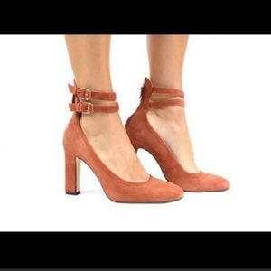 NWT Massimo Dutti Rust Orange Ankle Straps Heels